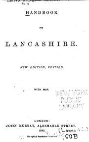 Cover of: Handbook for Lancashire