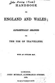 Cover of: Handbook for England and Wales by John Murray (Firm)