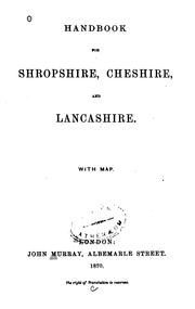 Cover of: Handbook for Shropshire, Cheshire and Lancashire ..
