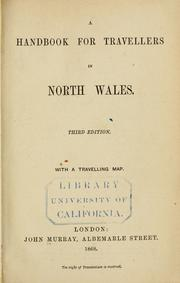 Cover of: handbook for travellers in North Wales ... | John Murray (Firm)