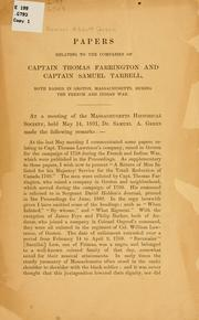 Cover of: Papers relating to the companies of Captain Thomas Farrington and Captain Samuel Tarbell