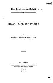Cover of: From love to praise
