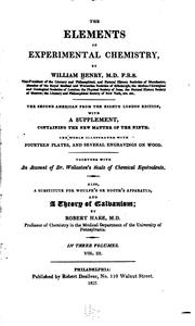 The elements of experimental chemistry by Henry, William