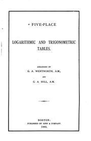 Cover of: Plane trigonometry and tables