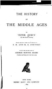 Cover of: The history of the Middle Ages