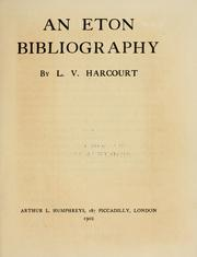 Cover of: An Eton bibliography