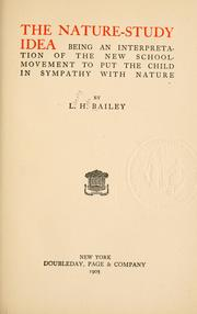 Cover of: nature-study idea | L. H. Bailey