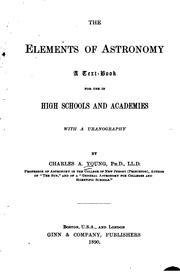 Cover of: The elements of astronomy