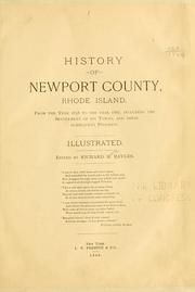 History of Newport County, Rhode Island.