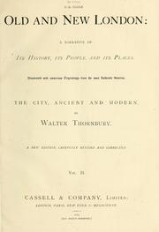 Cover of: Old and new London | Thornbury, Walter