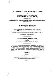 Cover of: History and antiquities of Kensington