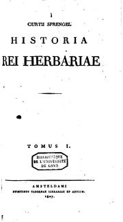 Cover of: Curtii Sprengel Historia rei herbariae