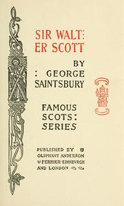 Cover of: Sir Walter Scott