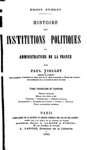 Cover of: Droit public