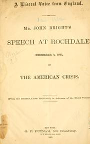 Cover of: A liberal voice from England