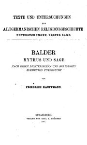 Cover of: Balder