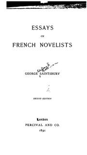 Cover of: Essays on French novelists
