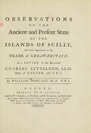 Cover of: Observations on the ancient and present state of the islands of Scilly