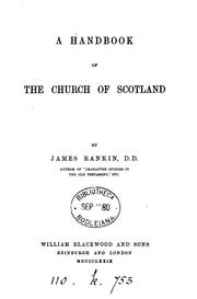 Cover of: handbook of the Church of Scotland | Rankin, James