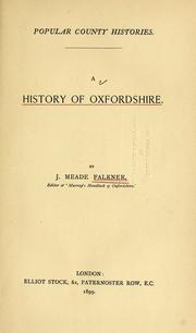 Cover of: A history of Oxfordshire