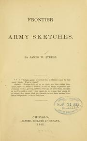 Cover of: Frontier army sketches