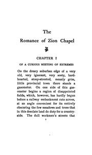 Cover of: romance of Zion chapel | Richard Le Gallienne