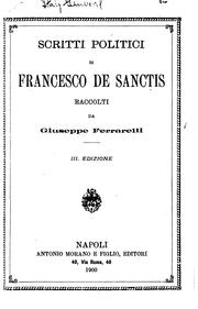 Cover of: Scritti politici di Francesco de Sanctis