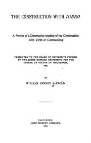 Cover of: construction with iubeo | William Berney Saffold