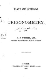 Cover of: Plane and spherical trigonometry
