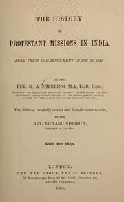 Cover of: The history of Protestant missions in India from their commencement in 1706 to 1881
