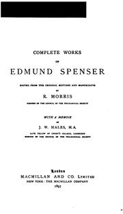 Cover of: Complete works of Edmund Spenser