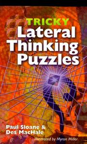 Cover of: Tricky Lateral Thinking Puzzles
