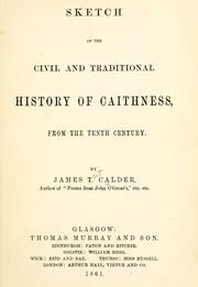 Cover of: Sketch of the civil and traditional history of Caithness from the tenth century