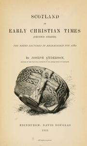 Cover of: Scotland in early Christian times / | Anderson, Joseph