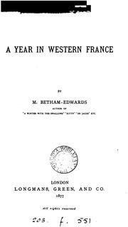 Cover of: A year in western France