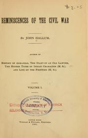 Cover of: Reminiscences of the Civil War