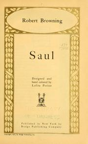 Saul by Robert Browning
