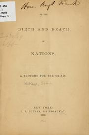 Cover of: Of the birth and death of nations