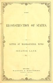 Cover of: The reconstruction of states