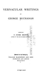 Cover of: Vernacular writings of George Buchanan