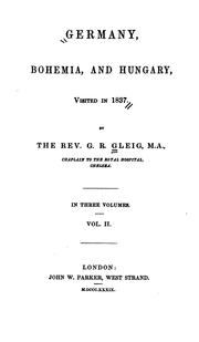 Cover of: Germany, Bohemia, and Hungary