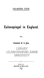 Cover of: Eulenspiegel in England