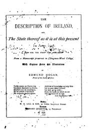 Cover of: The description of Ireland by Hogan, Edmund