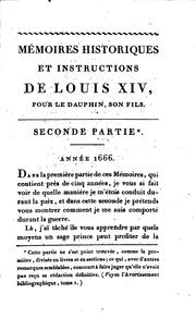 Cover of: Oeuvres de Louis XIV