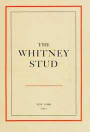 Cover of: The Whitney stud