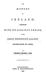 Cover of: history of Ireland | Thomas Moore