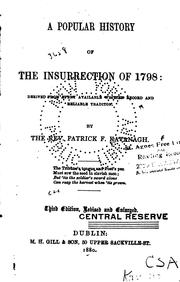 Cover of: A popular history of the insurrection of 1798 | Patrick F. Kavanagh