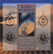 Cover of: Rumi Wisdom: Daily Teachings from the Great Sufi Master