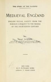 Cover of: Mediaeval England