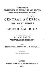 Cover of: Central America: the West Indies and South America